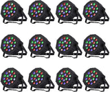 Nurxiovo 4/8/12 Packs LED DMX Stage Lights w/Remote Par Can Light