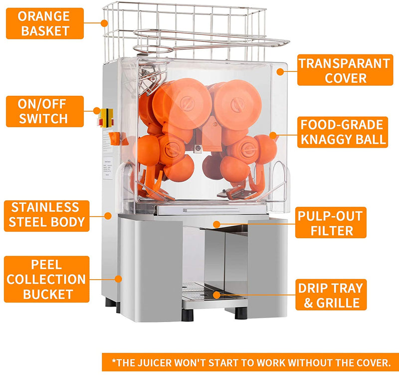 Nurxiovo Commercial Orange Juicer Machine, Electric Juice Squeezer