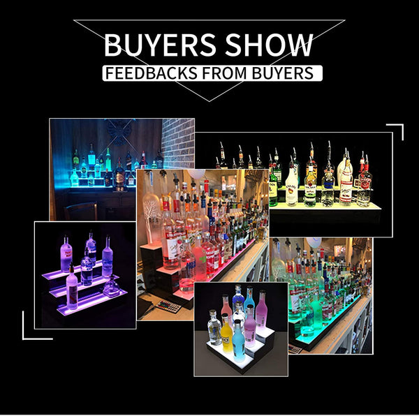 LED Lighted Liquor Bottle Display, Bar Bottle Shelf sale