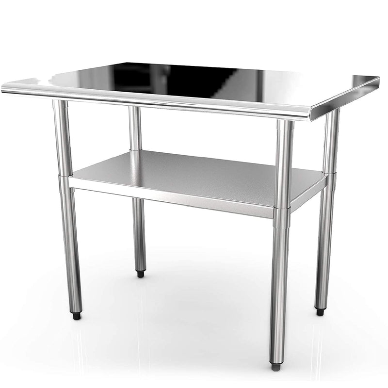 Nurxiovo 36x24 Inches Commercial Prep Table Stainless Steel Work Tables sale