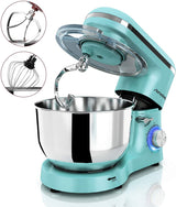 Nurxiovo 6.5QT Stand Mixer 660W Dough Hook Whisk Beater 6-Speed Electric Mixer Kitchen Tilt-Head Food Mixer with Stainless Steel Bowl
