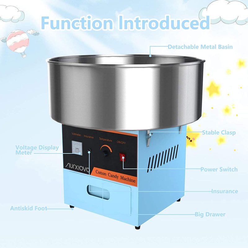 Electric Cotton Candy Machine, Blue