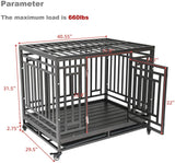 Nurxiovo- Dog Crate Cage for Large Dog, Pets Strong Metal Tube, Heavy Duty Sturdy Steel
