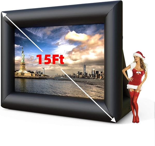 Inflatable Movie Screen, Outdoor Mega Movie Projection Screen with Blower Strings Stakes sale