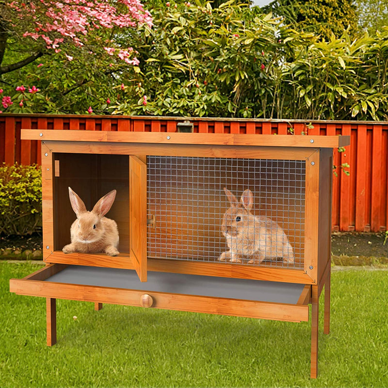"Nurxiovo 36"" Chicken Coop Outdoor Wooden Bunny Rabbit Hutch House sale"