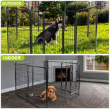 Nurxiovo Dog Pen, 8/16 Panels 32 in Heavy Duty Folding Large Metal Dog Fence
