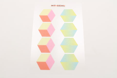 geometry hexagon stickers