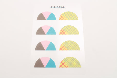 geometry semicircle stickers