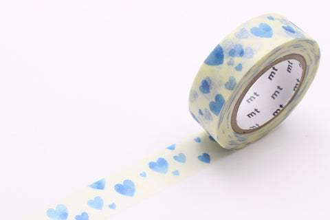 heart stamp blue