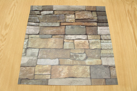 "stone wall - 18"" sq. (pack of 3 sheets)"