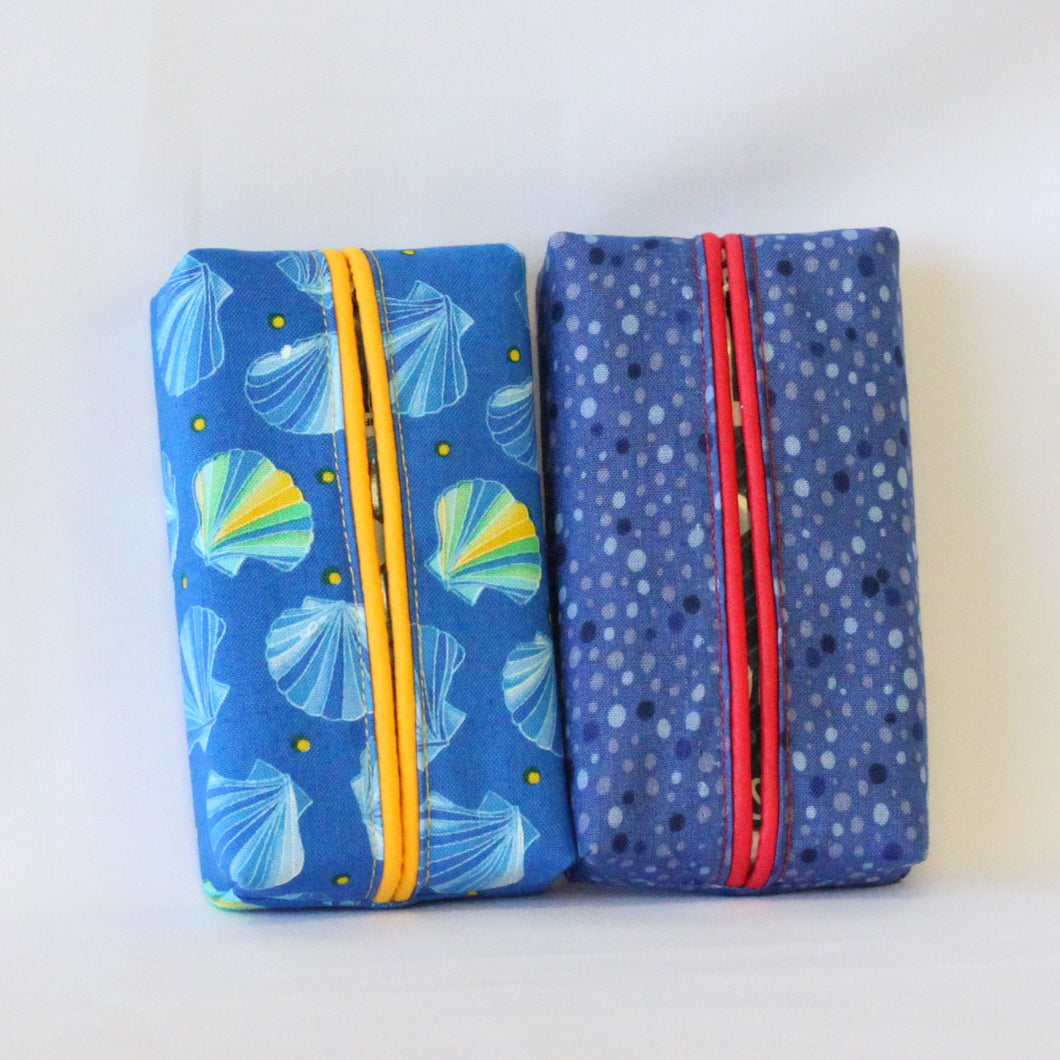 Travel Tissue Covers - Set of 2 - Spring Blues