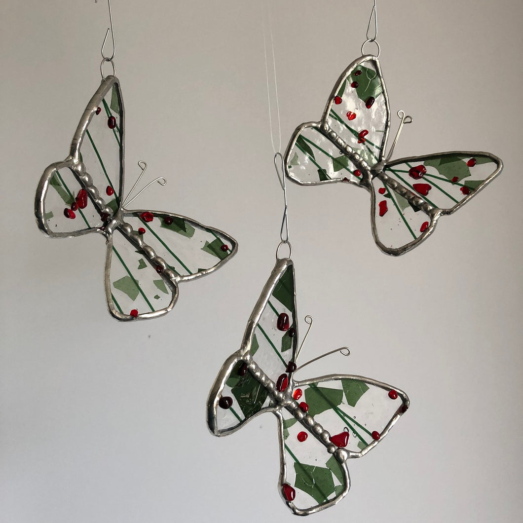 Stained Glass Christmas Butterfly