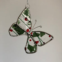 Load image into Gallery viewer, Stained Glass Christmas Butterfly