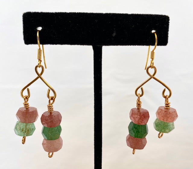 Tourmaline Mobile Pierced Earrings