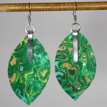 Load image into Gallery viewer, Garden Fabric Leaf Earrings
