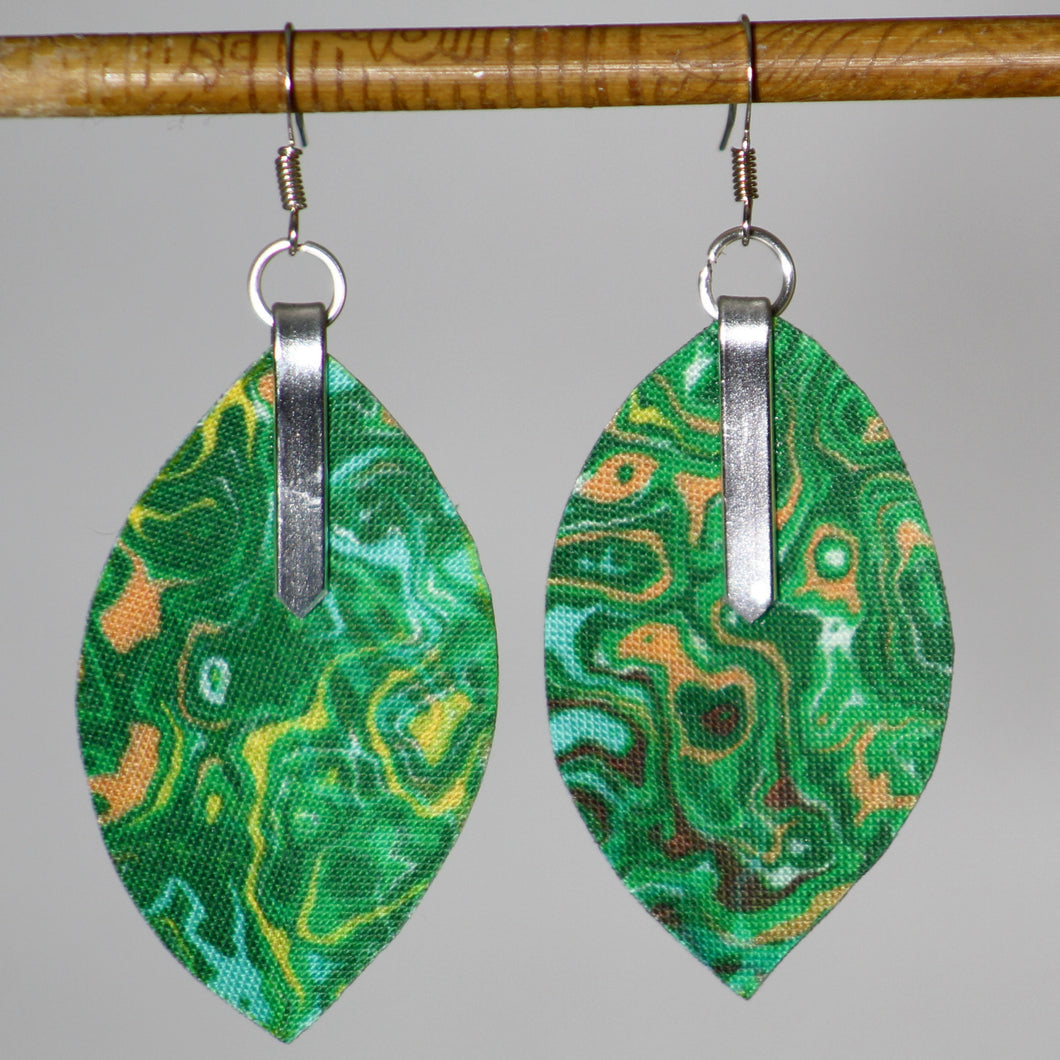 Garden Fabric Leaf Earrings