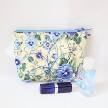 Load image into Gallery viewer, Zippered Fabric Cosmetic Bag