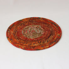 Load image into Gallery viewer, Batik Fabric Coiled Trivet
