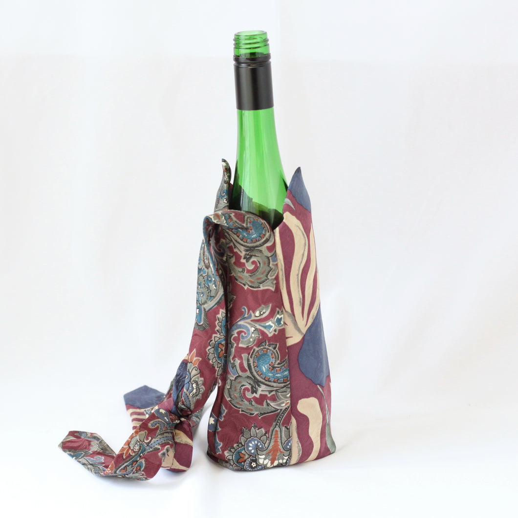 Neck Tie Bottle Bags