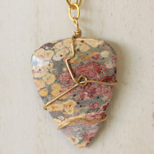 Load image into Gallery viewer, Wire Wrapped Jasper Statement Necklace