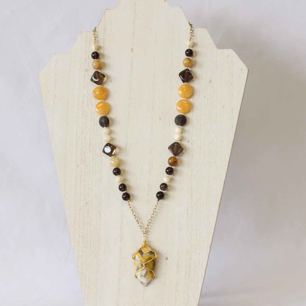 Bumblebee Jasper Statement Necklace