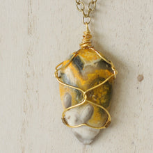 Load image into Gallery viewer, Bumblebee Jasper Statement Necklace