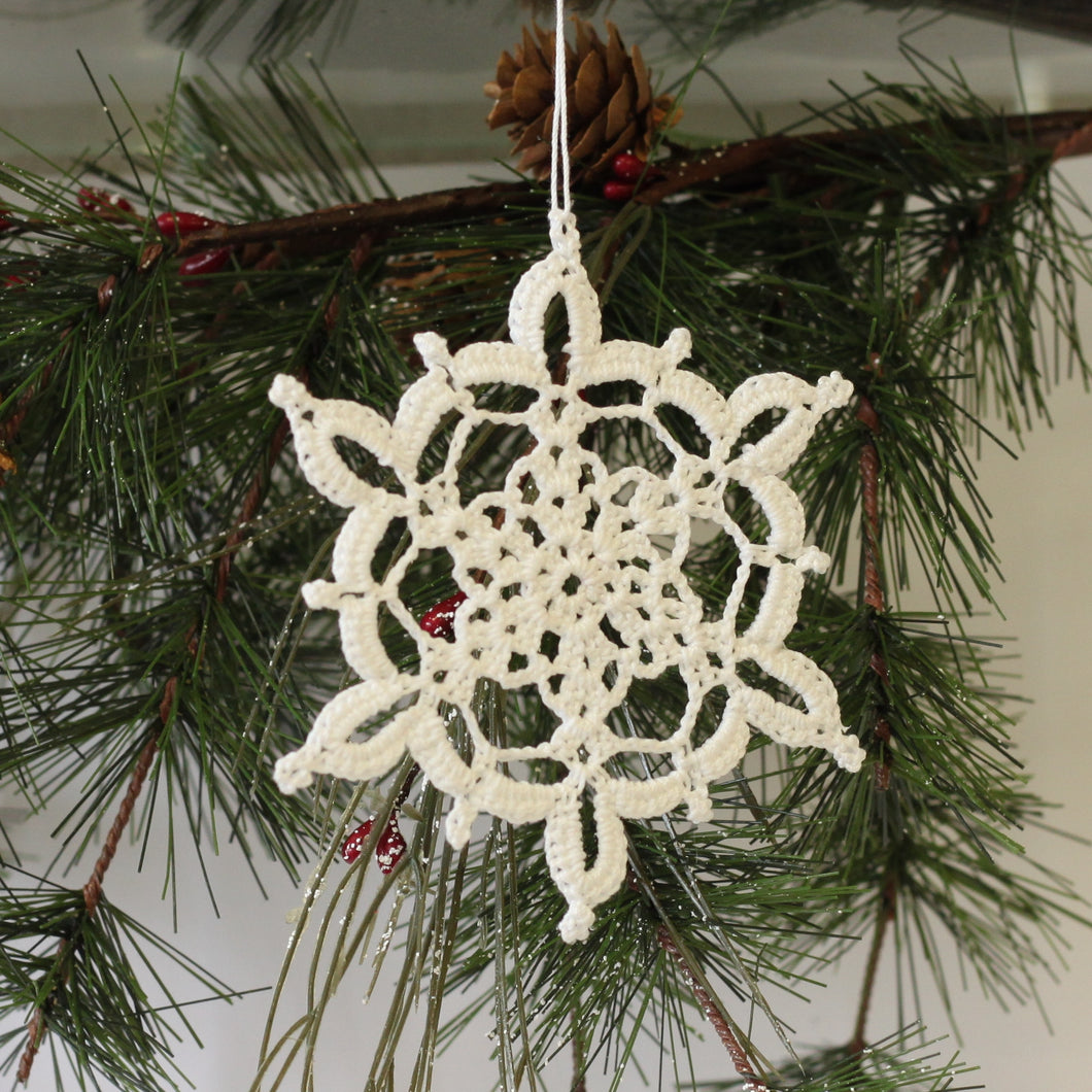 Crocheted Snowflake - Winter Lace