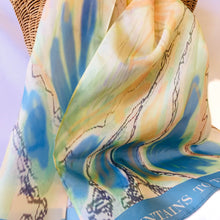 Load image into Gallery viewer, Silk Scarf - Mountain to the Sea