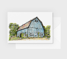 Load image into Gallery viewer, North Carolina Farm Barn Note Cards Watercolor Pen and Ink Gift Box