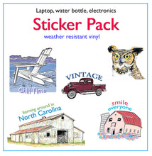 Load image into Gallery viewer, Vinyl Sticker Pack Assortment For Laptops, Water Bottles, Electronics