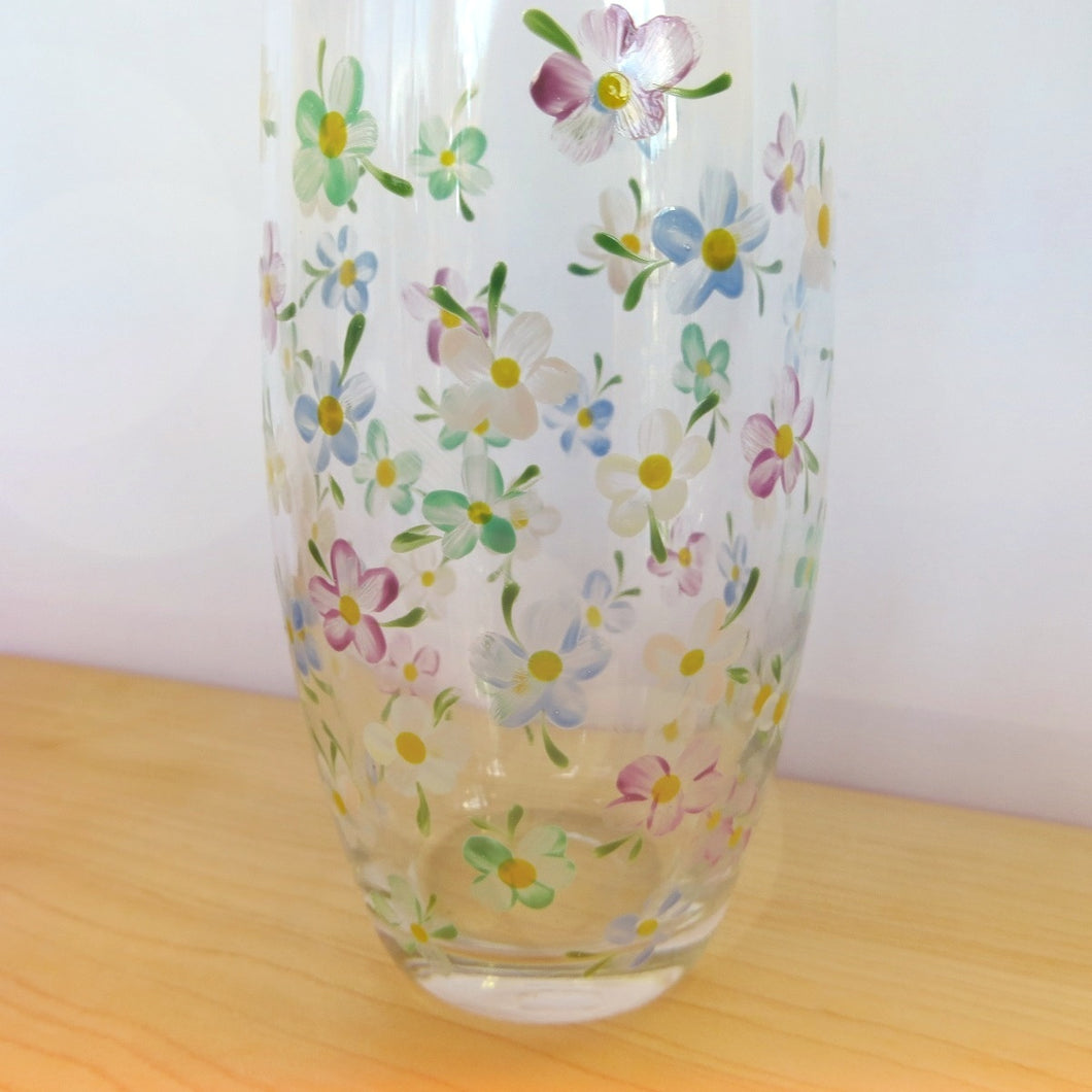 Hand Painted Glass Bud Vases
