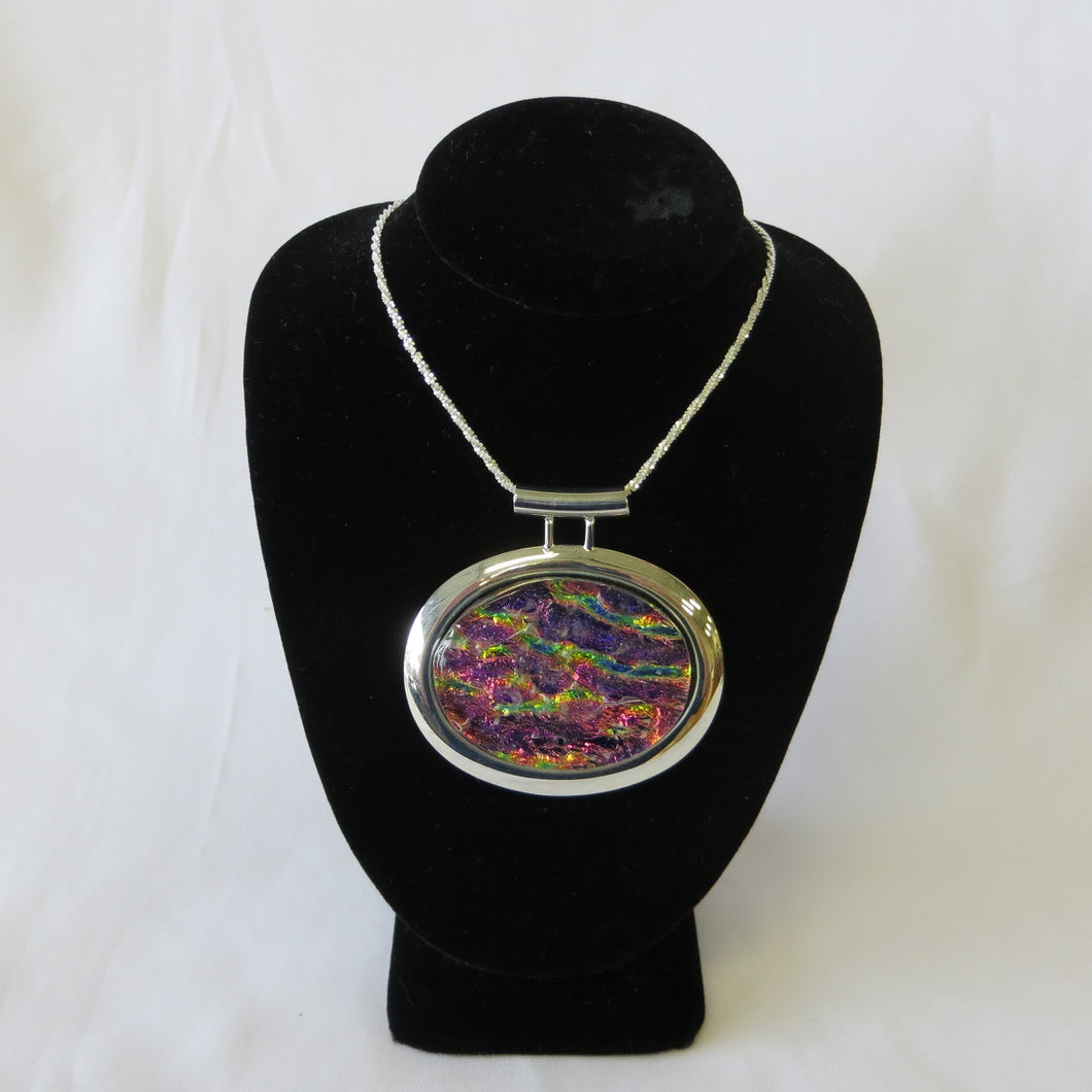Dichroic Glass Pendant - Red
