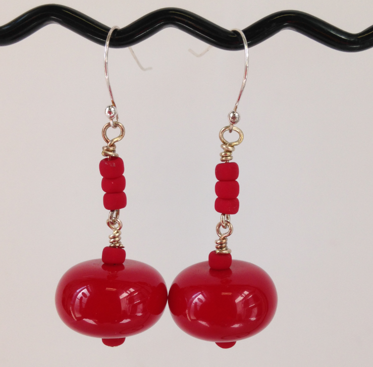 Red Bold Earrings