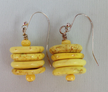 Load image into Gallery viewer, Yellow Gemstone Earrings