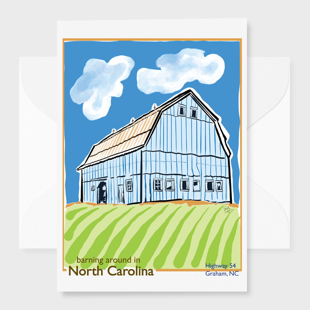 Barning Around in North Carolina Greeting Card