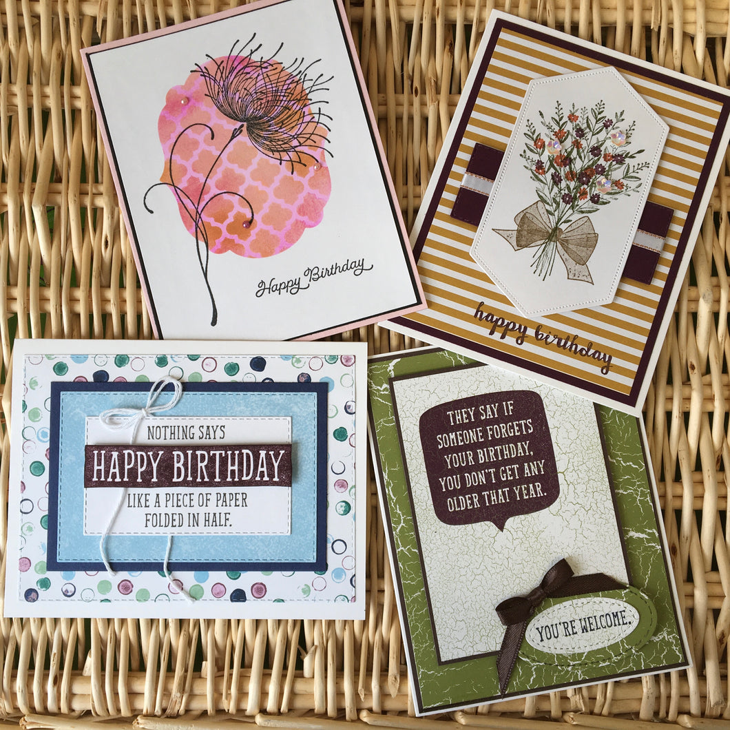 Birthday Cards - Boxed Set of 4