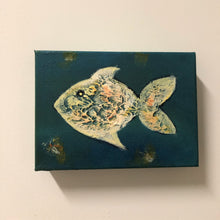 "Load image into Gallery viewer, Acrylic on Canvas - ""Fishie"""