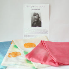 Load image into Gallery viewer, Silk Scarf in Pastels - WWII Parachute Silk