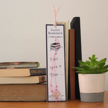 Load image into Gallery viewer, Quartz Heart Beaded Bookmark with Pink Cord