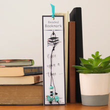 Load image into Gallery viewer, Blue Bird Beaded Bookmark