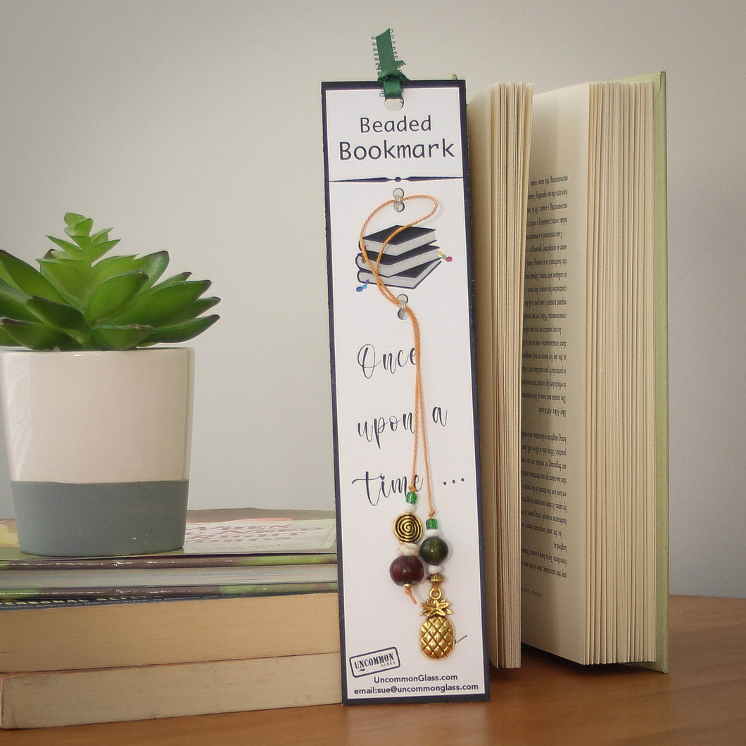 Pineapple Beaded Bookmark