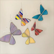 Load image into Gallery viewer, Stained Glass Mini Butterfly