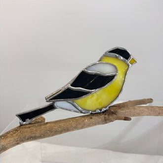 3D Stained Glass Goldfinch