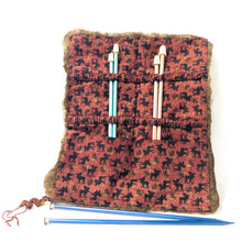 Load image into Gallery viewer, Felted Knitting Needle or Paint Brush Case - Brown