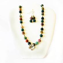 Load image into Gallery viewer, Fancy Jasper Necklace and Earrings Set
