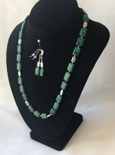 Load image into Gallery viewer, Azurite-Malachite Necklace and Earring Set