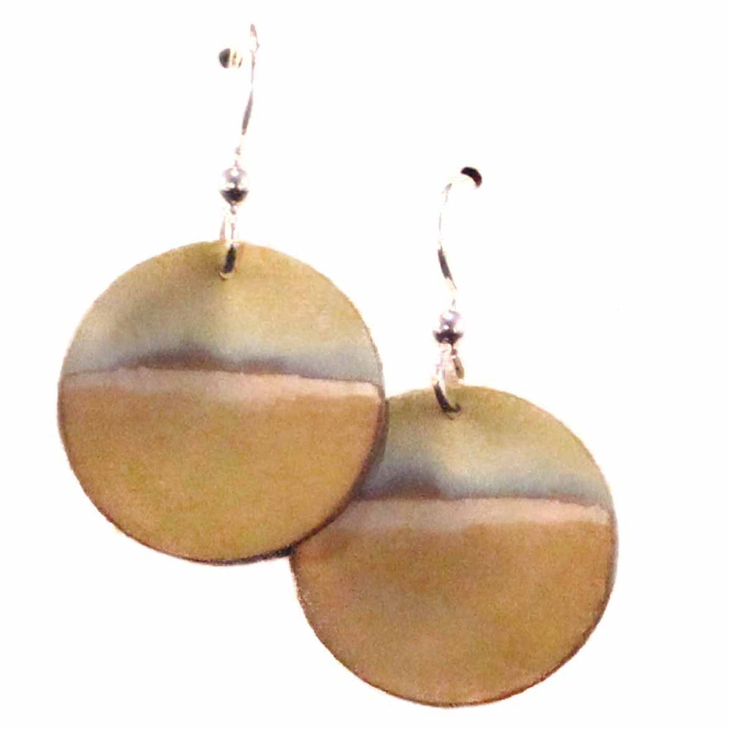 Dangling Disc Titanium Earrings