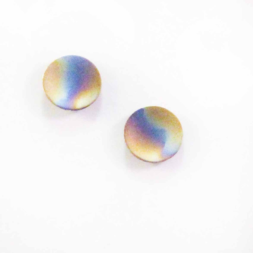 Titanium Button Earrings