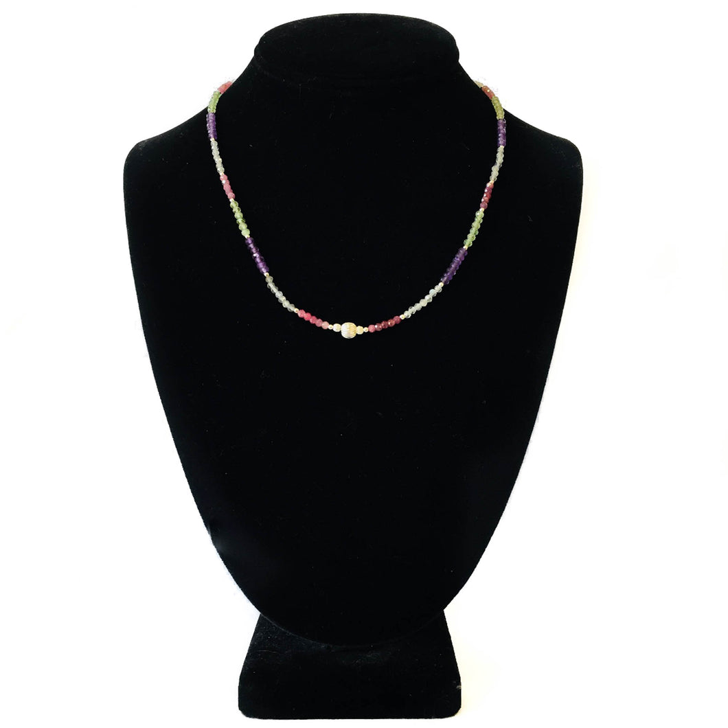 Multi-Gem Necklace - Rubies