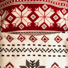 Load image into Gallery viewer, Cozy Footwarmers - Red and White Snowflake